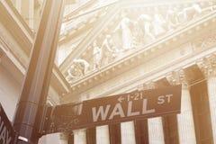 De Beurs van Wall Street New York stock foto
