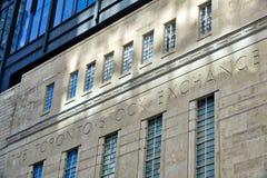 De Beursingang van Toronto in Toronto stock afbeelding