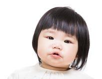 De beurslip van het babymeisje stock fotografie