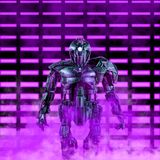 De bevelhebber van de neonrobot royalty-vrije illustratie