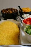 De bevestigende upclose verticaal van de taco stock fotografie