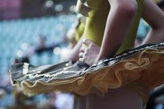 De bevindende close-up van de ballerina Stock Afbeeldingen