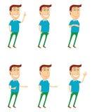 De bevindende mens met divers stelt vector illustratie