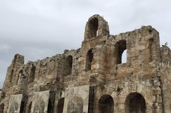De Bevindende Ruïnes van Griekenland royalty-vrije stock fotografie