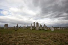 De bevindende stenen Callanish Stock Foto's