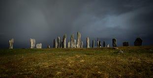 De bevindende stenen van Callanish Stock Afbeeldingen