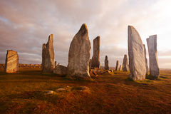 De bevindende stenen van Callanish Stock Foto