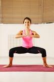 De bevindende yoga stelt Stock Afbeeldingen