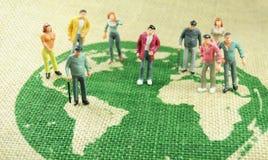 De bevolking van de wereld Stock Foto