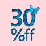 30% de bevordering van de kortingsverkoop Het concept modieuze affiche, banner, advertenties Stock Afbeeldingen