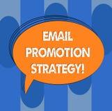 De Bevorderingsstrategie van de handschrifttekst E-mail Concept die Gevend kortingen of toegevoegde gift om Geschetst klanten Lee vector illustratie
