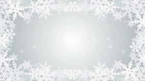 De bevroren animatie van het Sneeuwvlokkader - zilver royalty-vrije illustratie