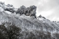 De bevroren berg Stock Foto
