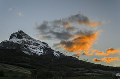 De bevroren berg Stock Fotografie