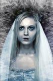 De bevroren bruid van het zombielijk stock fotografie
