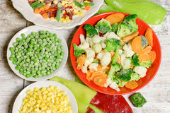 De bevroren groenten behouden alle voedingsmiddelen royalty-vrije stock foto