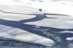 De bevroren ijsschol van het de winterijs stock afbeelding