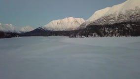 De bevroren lancering Van Alaska van de meerhommel stock video