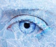 De bevroren make-up van de oogstreek Stock Afbeelding