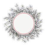 De bevroren Sneeuw Gouden Deco van het Takjes Rode Embleem vector illustratie