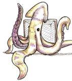 De bewaarder van de pijlinktvis Stock Foto