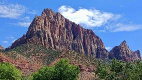 De Bewaker in Zion National Park stock afbeeldingen