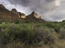 De Bewaker in Zion National Park Royalty-vrije Stock Fotografie