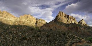 De Bewaker in Zion National Park in de Lente Stock Fotografie