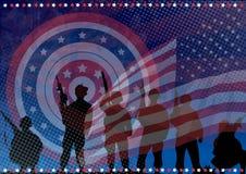 De bewapende verdedigers van Amerika stock illustratie