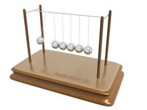 De bewegende ballen van Newton Royalty-vrije Stock Foto's