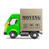 De bewegende bestelwagen van de vrachtwagenverhuizing Royalty-vrije Stock Afbeeldingen