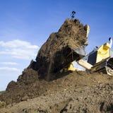 De bewegende bulldozer van de aarde   Stock Foto