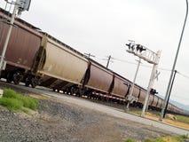 De bewegende Treinen van de Lading royalty-vrije stock afbeelding
