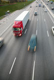 De beweging van auto's op weg Stock Afbeelding