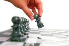 De beweging van het schaak Stock Foto's
