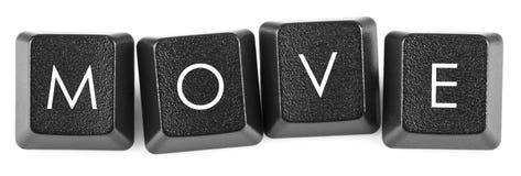 De beweging van toetsenbordknopen Royalty-vrije Stock Foto