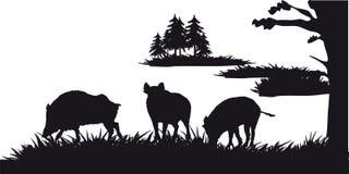 De beweging veroorzakende jacht van dieren en landscapes25 Stock Afbeelding
