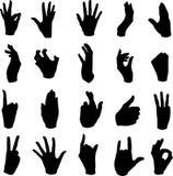 De bewegingen van de hand Stock Afbeeldingen
