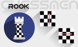 De bewegingen van de schaakroek Royalty-vrije Stock Afbeelding