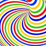 De bewegingsachtergrond van de ontwerp kleurrijke draaikolk Royalty-vrije Stock Foto