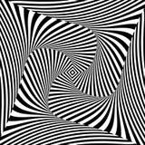 De bewegingsachtergrond van de ontwerp zwart-wit draaikolk Royalty-vrije Stock Afbeeldingen