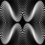 De bewegingsachtergrond van de ontwerp zwart-wit roes Stock Fotografie