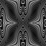 De bewegingsachtergrond van de ontwerp zwart-wit roes Stock Foto
