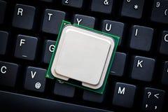 De bewerker van de computer op computertoetsenbord royalty-vrije stock foto's