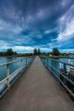 De Bewolkte Zonsondergang van Port Fairy stock fotografie