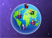 De Bewoners van de aarde Stock Foto