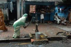 De bewoners van de krottenwijk van kolkata-India Royalty-vrije Stock Afbeeldingen