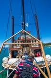 De bezienswaardigheden bezoekende Koningin van cruisetahoe in Meer Tahoe stock foto's