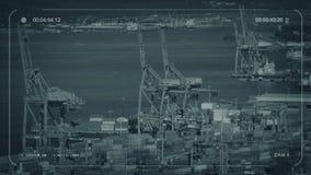 De Bezige Haven van kabeltelevisie met Honderden Kratten royalty-vrije illustratie