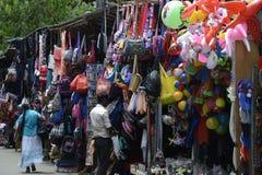 De Bezige Kleurrijke Markt van Srilankan Royalty-vrije Stock Foto